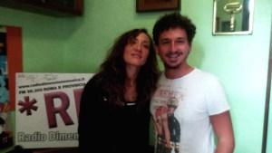 Marina Rei negli studi di RDM con Luca Cacciatore