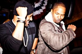 Big Tigger and Jamie Foxx performing on stage