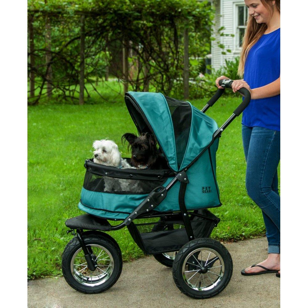 pet gear no zip double pet stroller