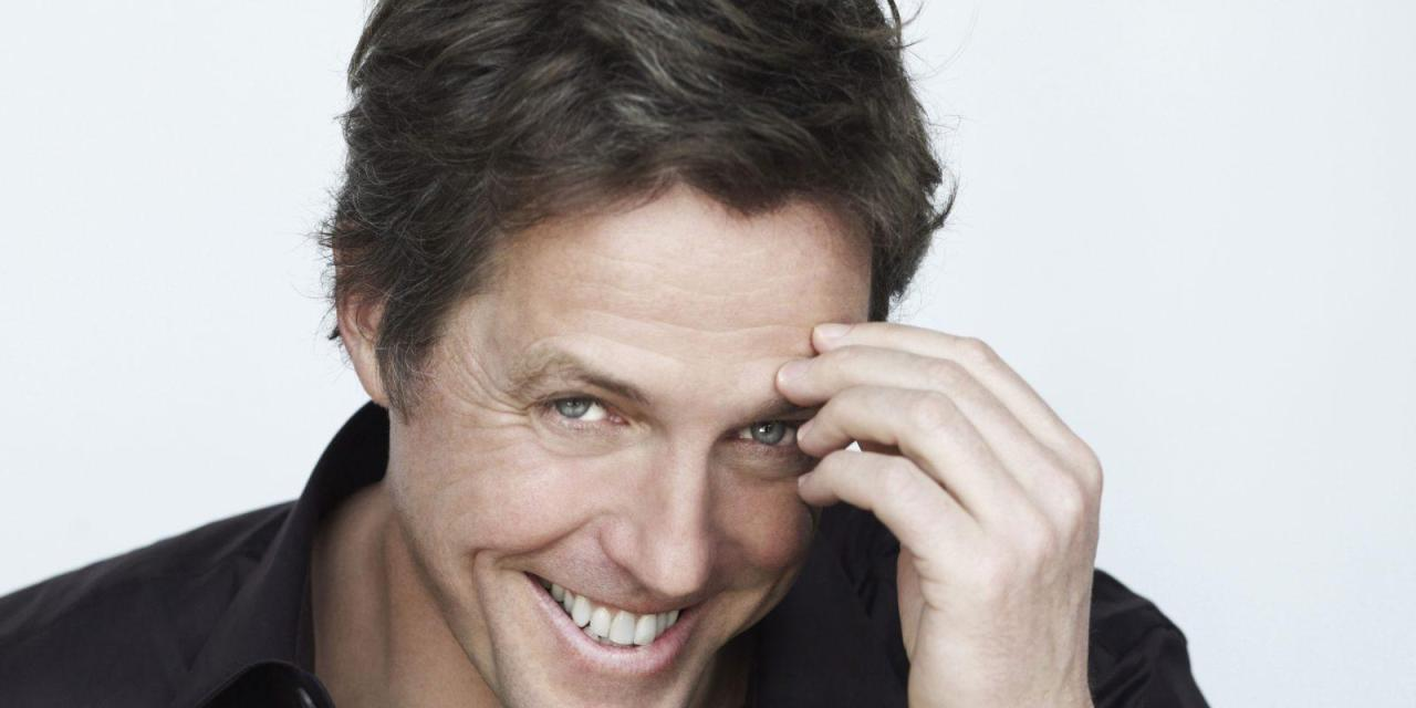 """Auguri a """"Hugh Grant"""", il volto affascinante del grande e piccolo schermo."""
