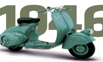 23 aprile 1946 settantadue anni in sella alla Vespa