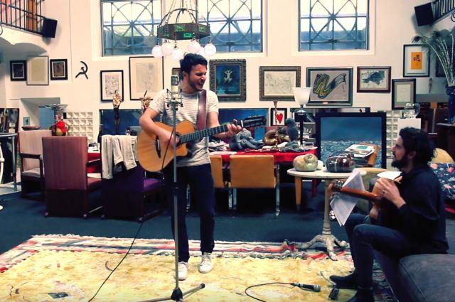 """vista della sala in cui è stata registrata la canzone """"peppe"""" di armando quattrone"""