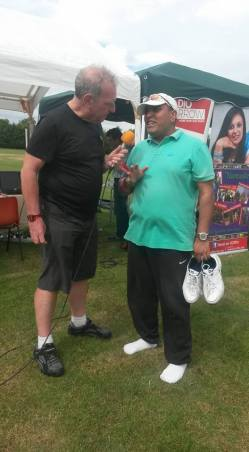 Charles and the chairman of Surajpar Gaam - SKLPC - Fun Day