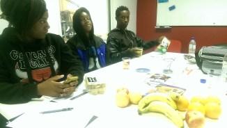 Lots of snacks to fuel radio brainstorming!