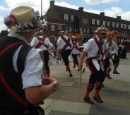 Day 15 - Thurs 16th July - MerryDowners Morris Dancers performing at the North Harrow Festival by @GeorgiaHCRfm