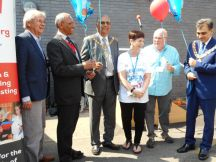 The Mayors of Harrow, Brent, Ealing with the Chief Exec of the Trust