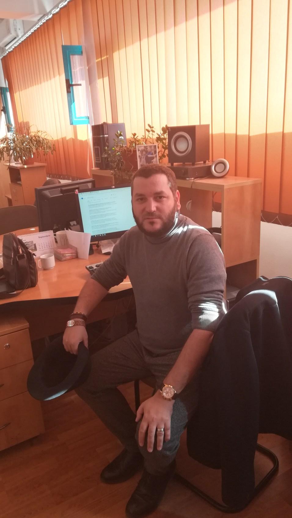 Scriitorul Andrei Crăciun la Radio Iași