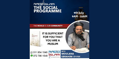 It Is Sufficient Honour For You That You Are A Muslim – Ml Ebrahim Bham