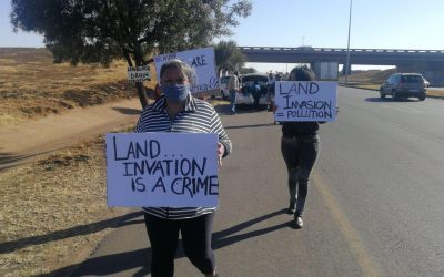 Residents Protest Over Illegal Land Invasion in Lenasia