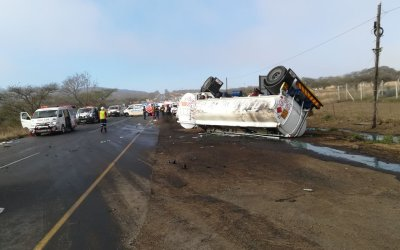 Police Hunting Tanker Driver After 13 People Including Unborn Baby Killed in KZN Horror Crash
