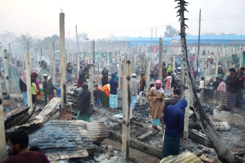 Cox's Bazaar Fire yet another Blow to Rohingya Refugees in Bangladesh