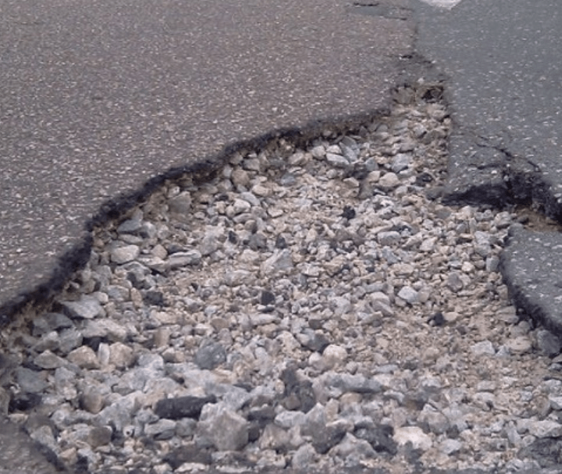 The backlog of potholes in Johannesburg