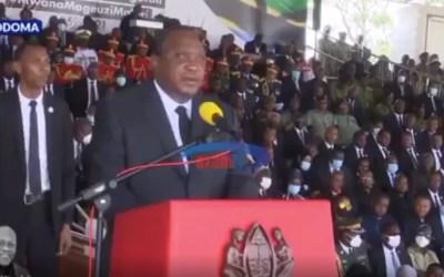 [WATCH] Kenyan President Uhuru Kenyatta Praised for Respecting Athan During Tribute for Tanzanian President John Magufuli