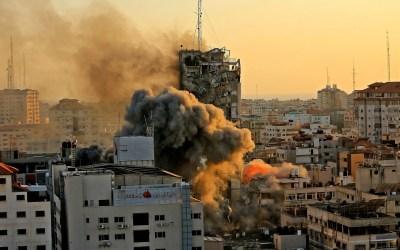 Israeli Occupation Forces Continue Bombardment of Gaza, Destroying 12-Storey Building Housing Al-Jazeera & Associated Press
