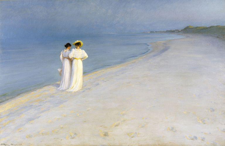 Peder Severin Kroyer – Sera d'estate sulla spiaggia meridionale