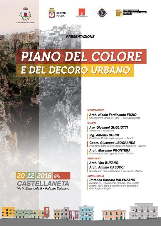 Castellaneta piano del colore e del decoro urbano radio for Creatore del piano del sito
