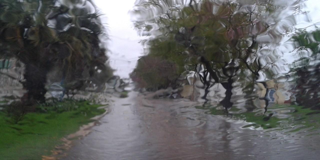 Importantes milímetros de lluvia en Las Parejas