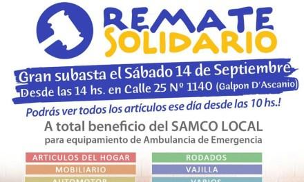 Realizan un remate solidario a beneficio del SAMCo