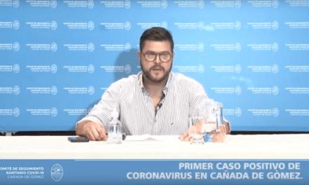 Primer caso positivo de COVID-19 en Cañada de Gómez