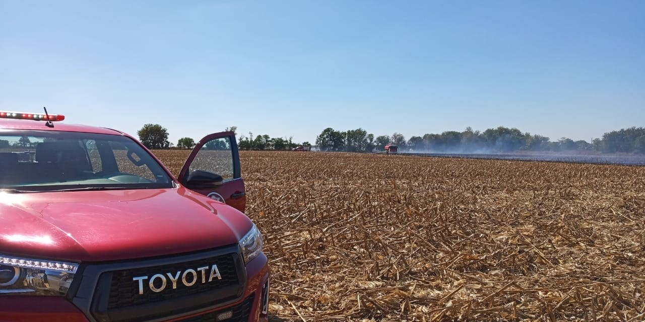 Incendio en zona rural