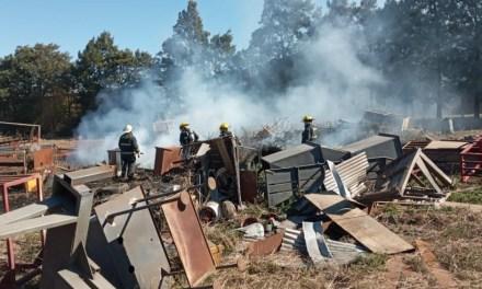 Incendio en un predio del área industrial