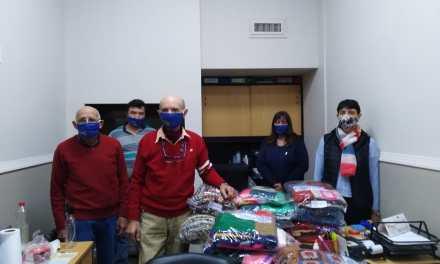 Rotary entregó mantas a la Residencia de Adultos Mayores