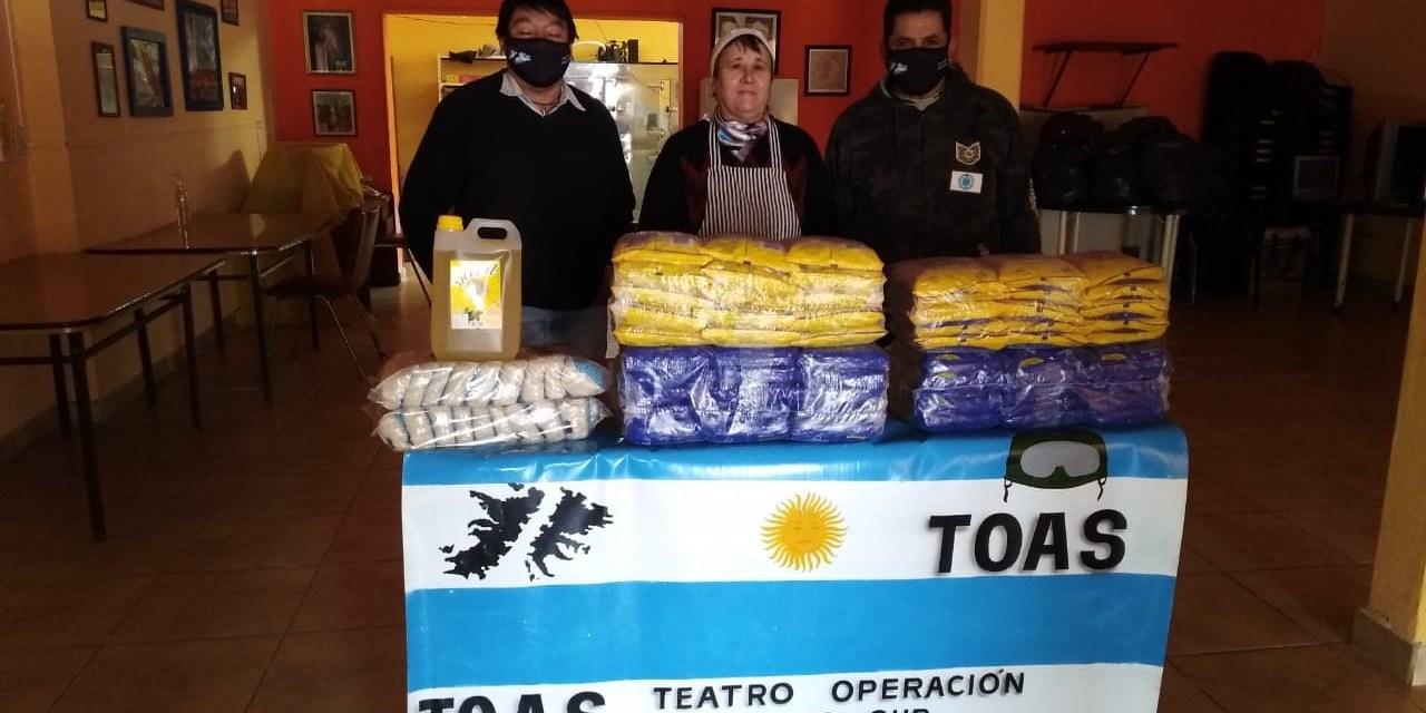 Veteranos de Malvinas entregaron donaciones al Comedor Comunitario