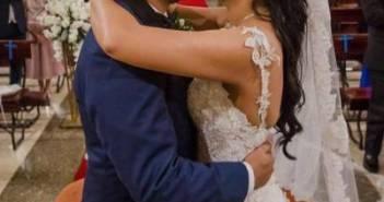Titi Aguilar, de Teleamazonas, celebra su boda eclesiástica junto con su familia y amigos
