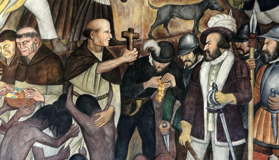 12 del patíbulo de 1492 ¿Cómo blanquear la leyenda negra - Diego-Rivera.-Codicia-y-avaricia.