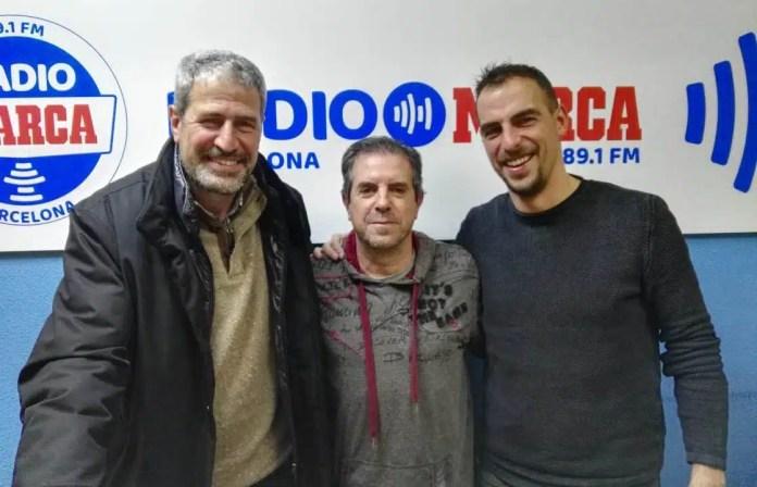 Manolo Márquez i Jordi López avui a la tertúlia del Catalunya Futbol