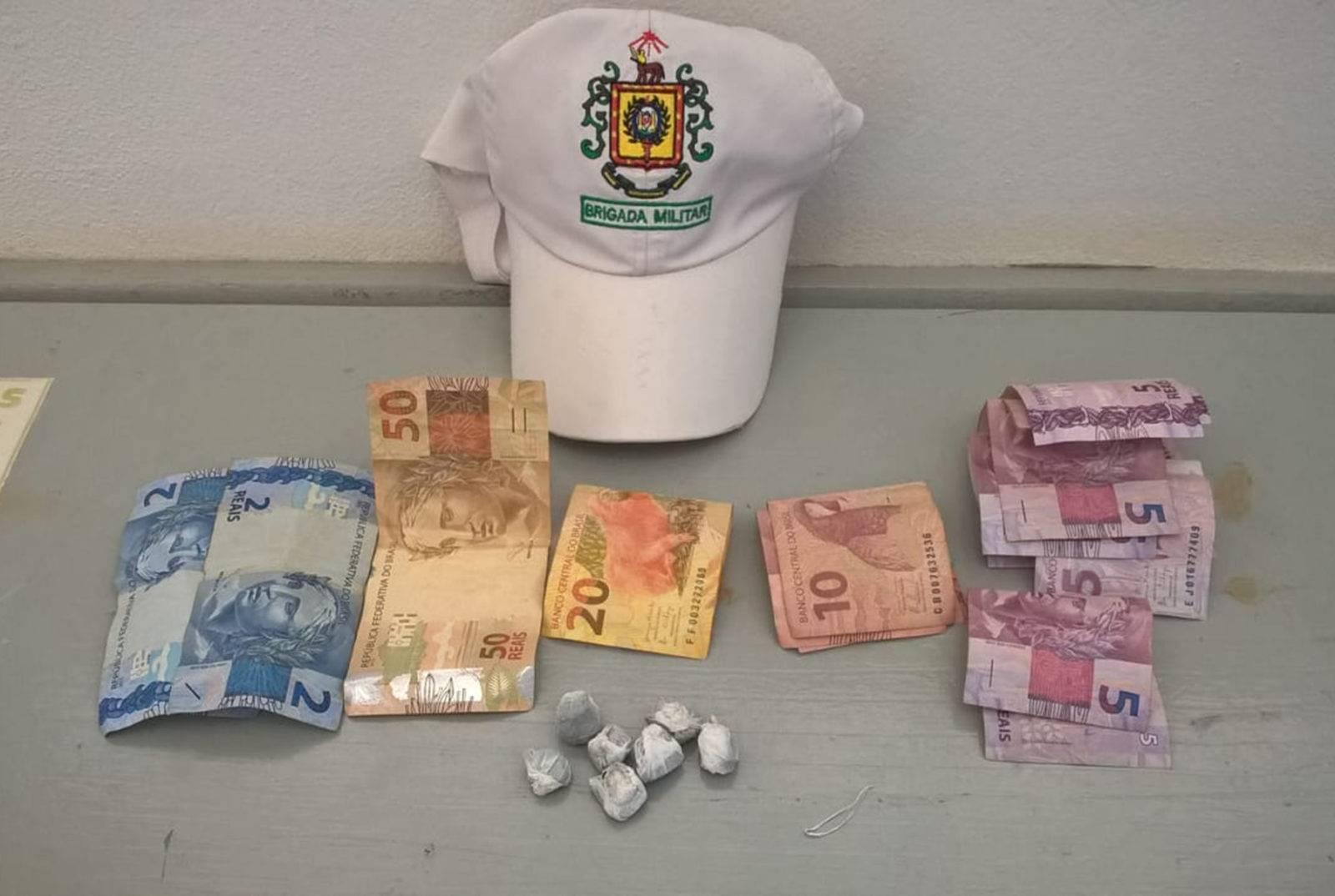 Brigada Militar prende traficante de drogas, em Roque