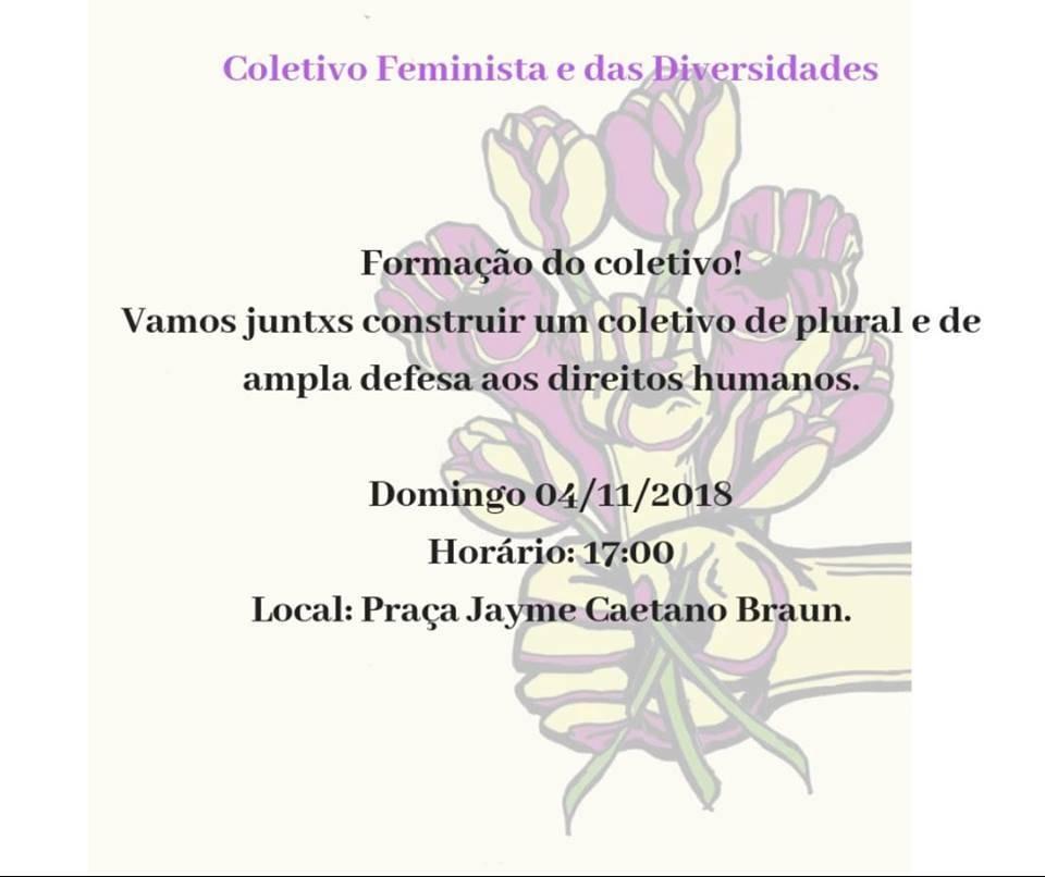 Coletivo feminista será formado hoje em São Luiz Gonzaga