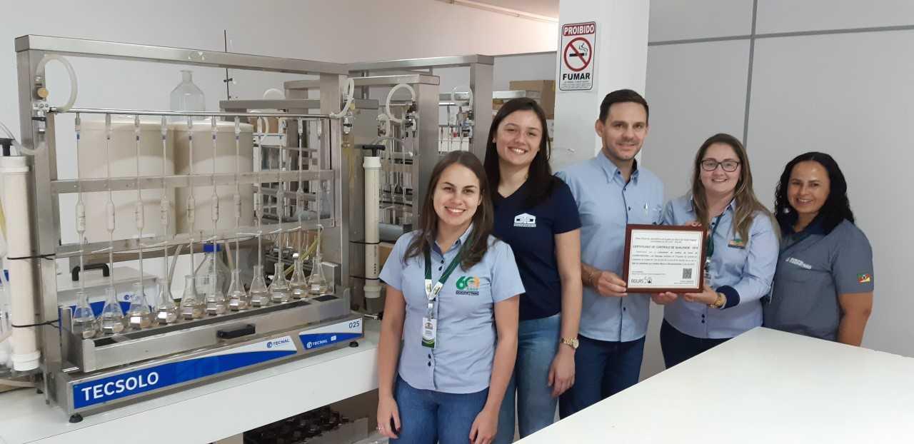Laboratório de solos Coopatrigo recebe selo de qualidade