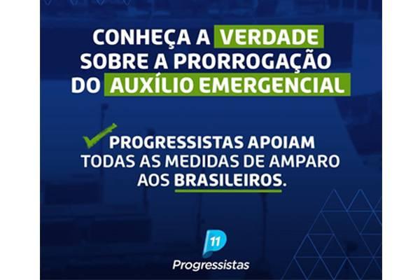 Progressistas se manifesta sobre notícia falsa relacionada ao auxílio emergencial