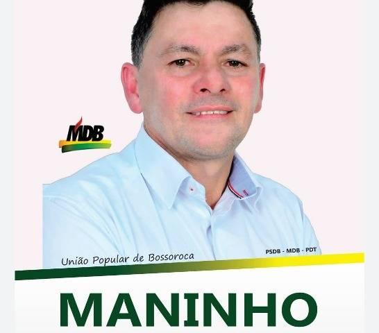 Vereador Maninho quer continuar com o seu trabalho transparente e defendendo o melhor por Bossoroca
