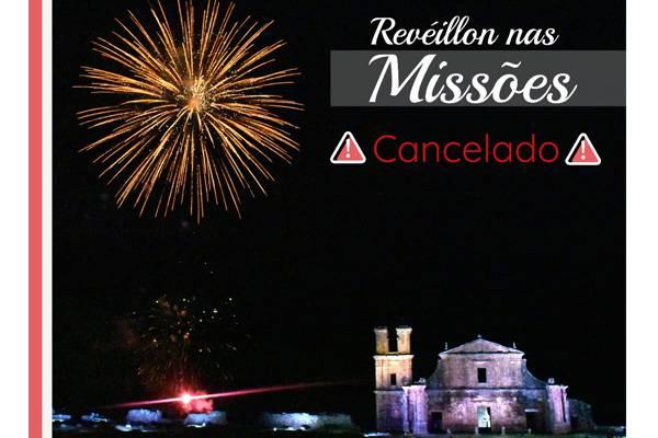 """Prefeitura de São Miguel das Missões cancela celebrações do """"Réveillon nas Missões"""""""