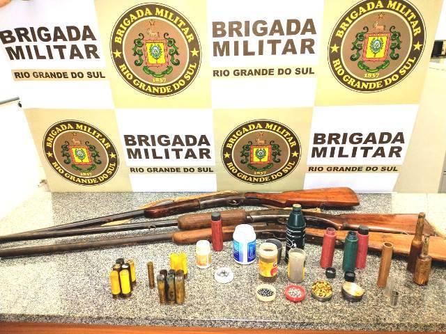 Prisão por porte ilegal de arma em Pirapó entre as ocorrências atendidas pela Brigada Militar na quinta-feira