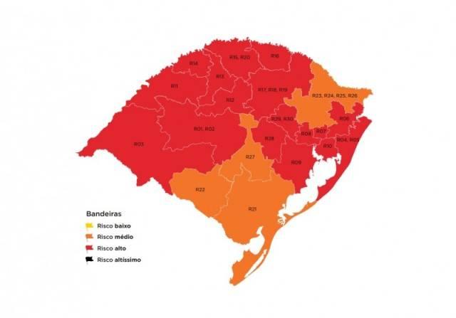 Ao indeferir recursos, Estado mantém mapa com 17 bandeiras vermelhas