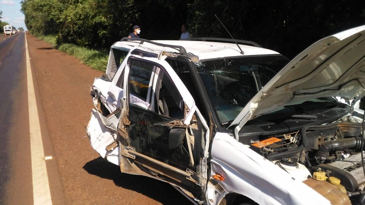 Acidente na BR 285, em Santo Antônio das Missões, deixa uma pessoa ferida