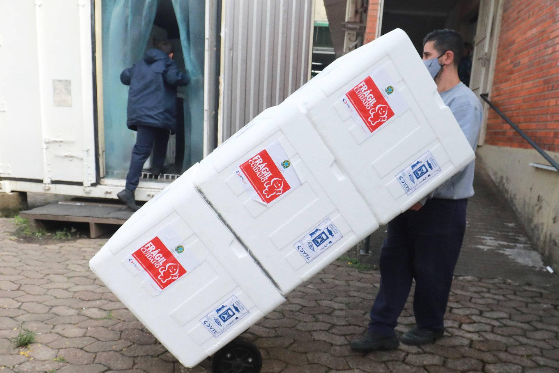 Região das Missões recebe segunda remessa de doses da vacina do Butantan