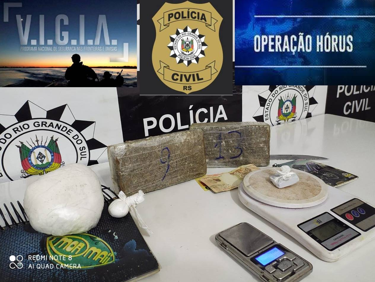 Operação Hórus prende homem com 2 quilos de drogas em São Luiz Gonzaga