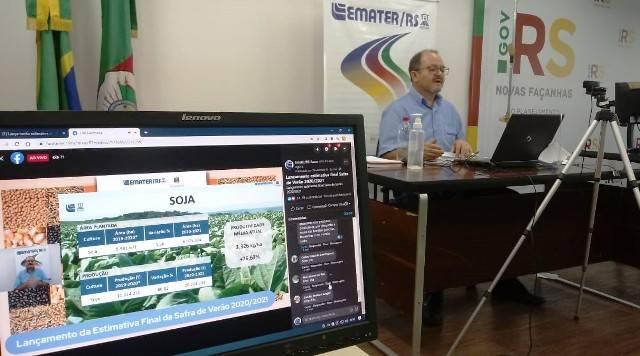 Emater/RS-Ascar e Seapdr lançam estimativa final da Safra de Verão