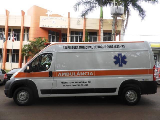 Prefeitura de Roque Gonzales adquire nova ambulância