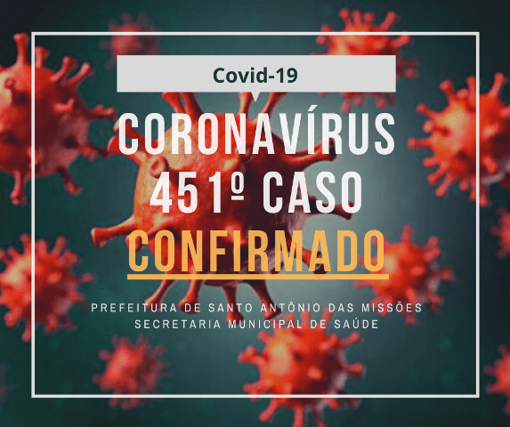 Boletim Epidemiológico desta sexta-feira aponta mais casos de coronavírus em Santo Antônio das Missões