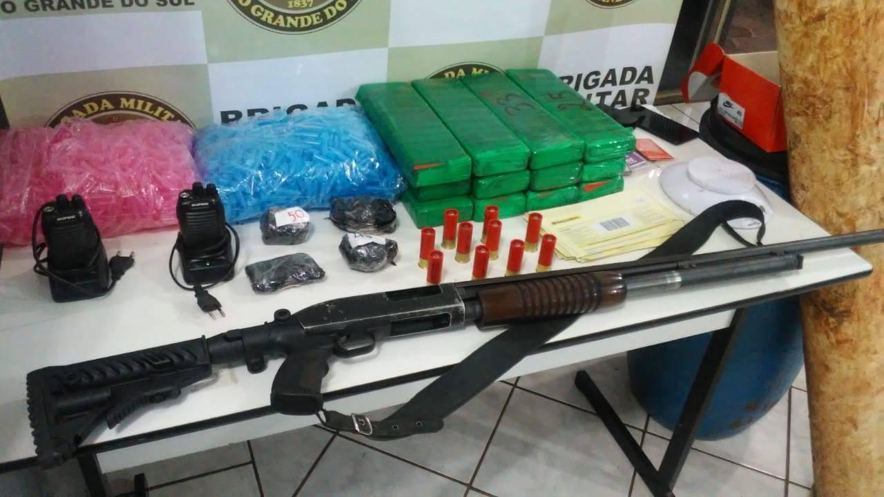 Brigada Militar prende homem em operação contra o tráfico em São Luiz Gonzaga