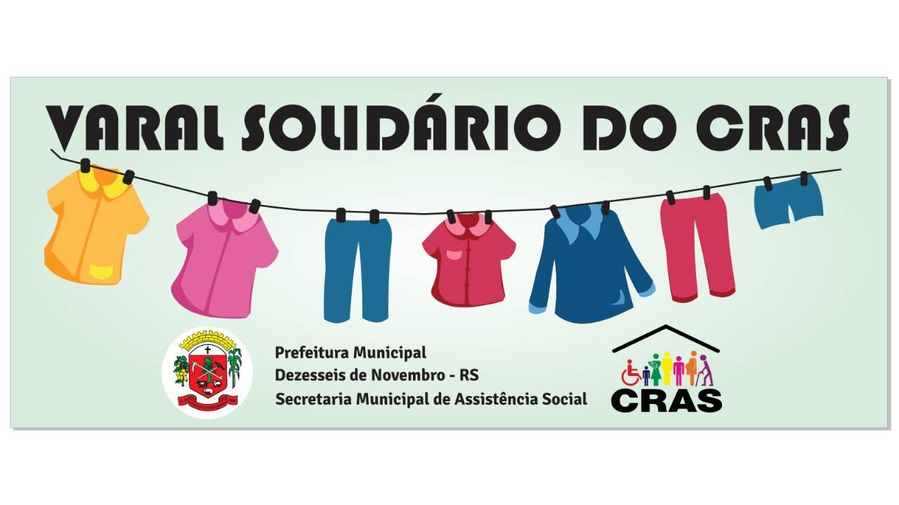 """""""Varal Solidário"""" mobiliza comunidade de Dezesseis de Novembro"""