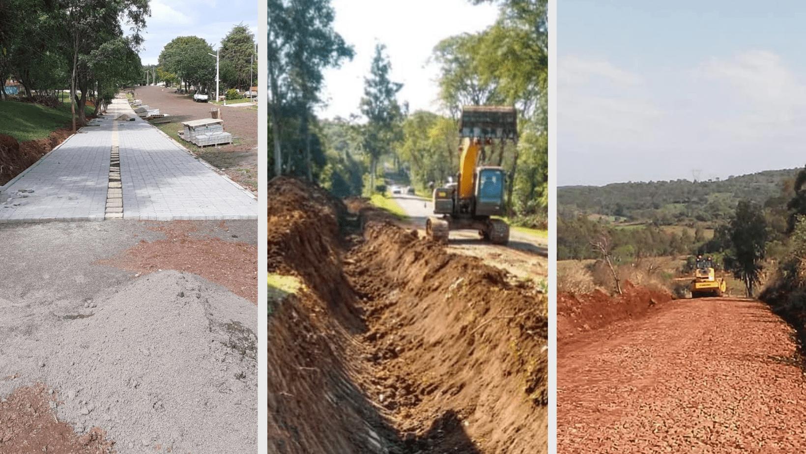 Dezesseis de Novembro recebe obras de infraestrutura em diversos pontos