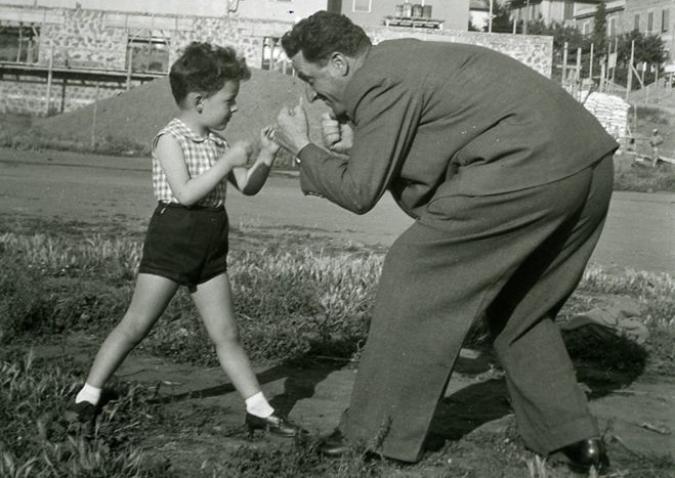 Claudio Baglioni con il padre Riccardo