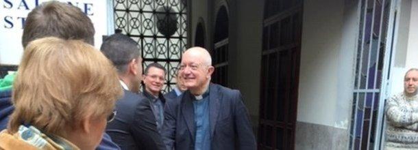 Bellandi, prima visita a Salerno e preghiera sulla tomba di Matteo