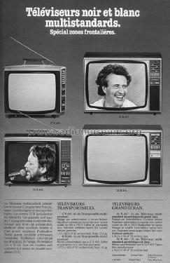 televiseur noir et blanc multistandard